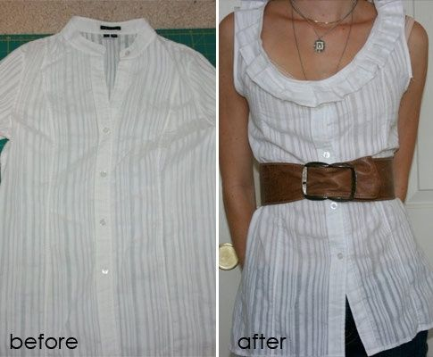 Pleated shirt refashion by Sepperlynn