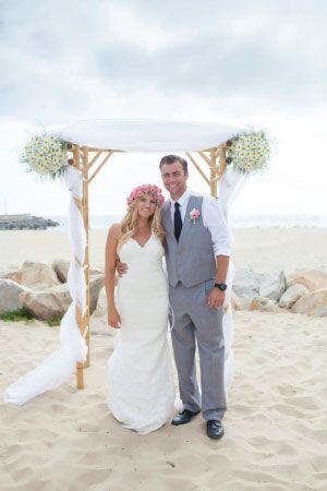beach wedding ceremony | California Wedding Day magazine | Expressionary Events wedding planners