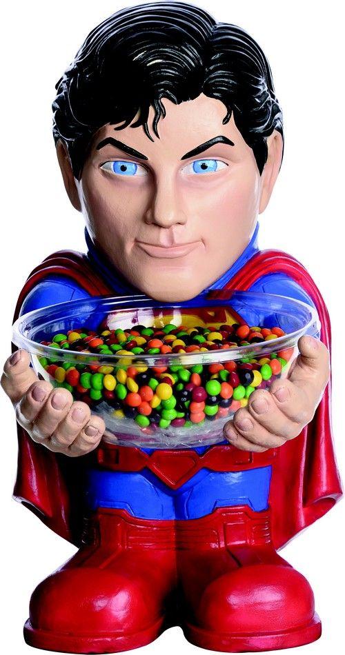 1 porta caramelle a forma di Superman™ su VegaooParty, negozio di articoli per feste. Scopri il maggior catalogo di addobbi e decorazioni per feste del web,  sempre al miglior prezzo!