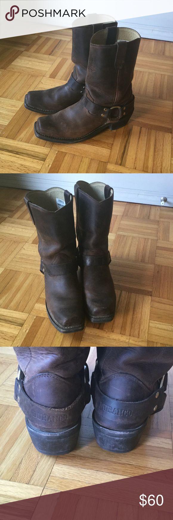 "Durango motor boots Classic design with 2"" heel. Very little wear. Durango Shoes Combat & Moto Boots"