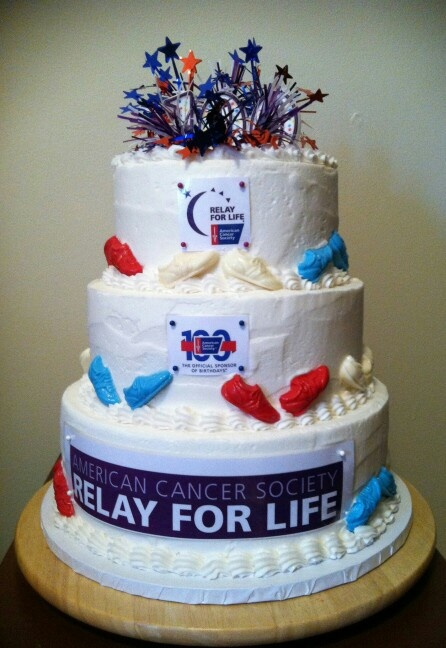 American Cancer Society 100 birthday cake Relay For Life ...  American Cancer...