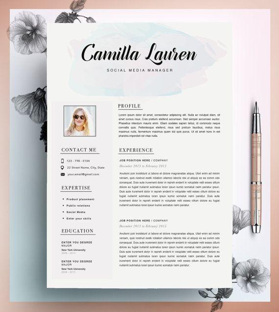Creatieve CV-sjabloon CV-Template Instant Download door CvDesignCo @merelmegens