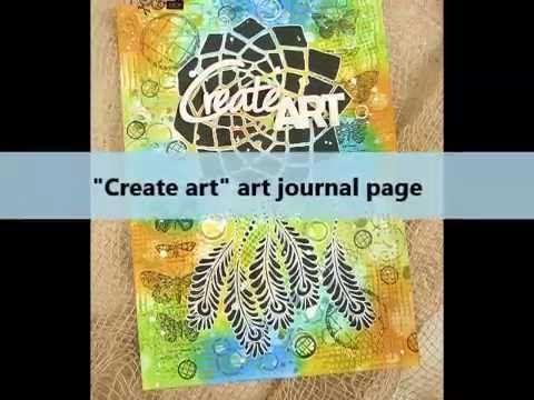 Dagmara Kos : Colorful side of Distress Inks video tutorial mixed media art journal page