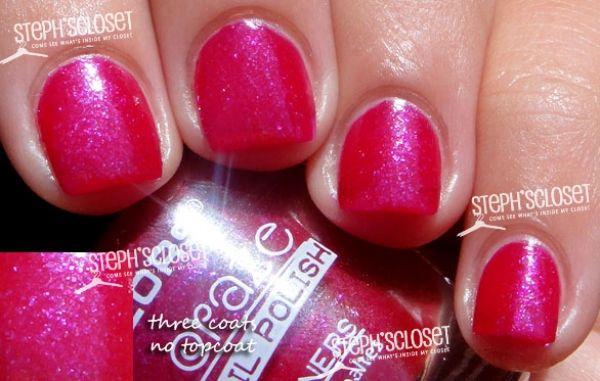 LA colors Pink metallic nail polish Pink