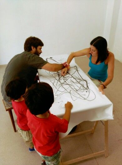 Experimental colective drawing. Cósimo Arte-Mediación (Cuenca,Spain)