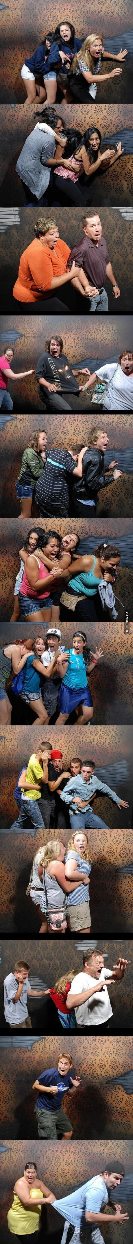 50 hilariously ridiculous haunted house reactions - Funny Haunted House Snapshots Http Geekstumbles Com Funny Funny