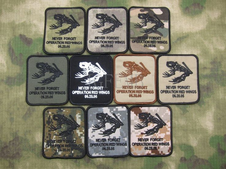 DEVGRU NSWDG Never Forget Operation Red Wings  Military Tactical Morale Embroidery patch #Affiliate