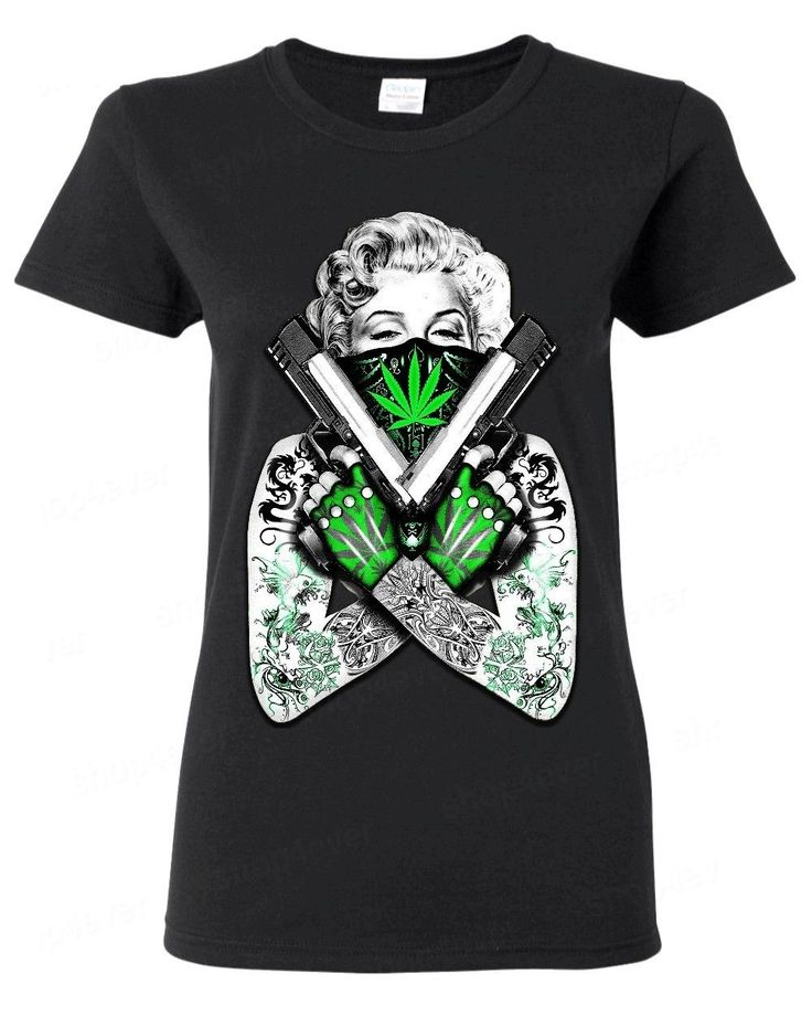 >> Click to Buy << 2017 Fashion Marilyn Monroe Weed Bandana Woman T-Shirt Sexy Star Tattoo Pot Fashion Brand Hipster Slim Top #Affiliate