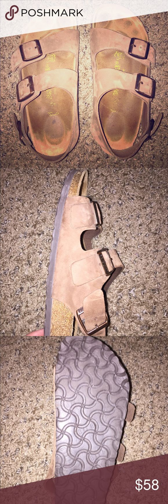 Birkenstocks Great condition! Only work with socks, no scuffs or stains! Birkenstock Shoes Sandals