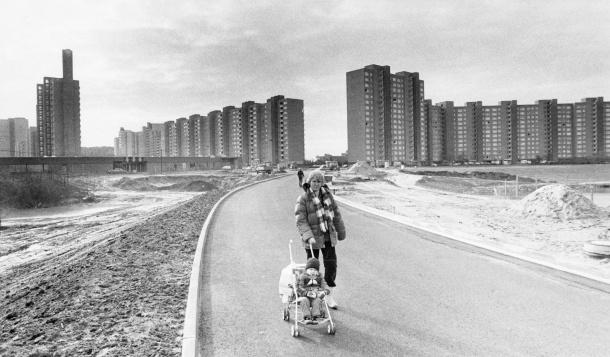 Großsiedlung Darmstadt-Kranichstein, 1970. © Nils Jockel / Darmstädter Echo