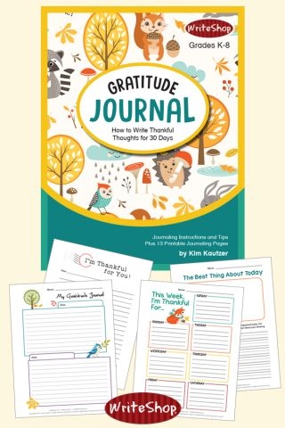 Free Gift for Subscribers: Keeping a Gratitude Journal Mini Lesson with Printables
