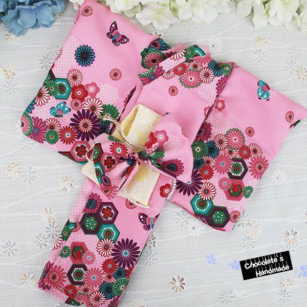 Japanese robe traditional KIMONO set for bjd asian floral print flower pink green red print sakura rose msd 1/4 SD 1/3 yosd 1/6 yukata by ChocolateHandmade on Etsy https://www.etsy.com/listing/533976896/japanese-robe-traditional-kimono-set-for