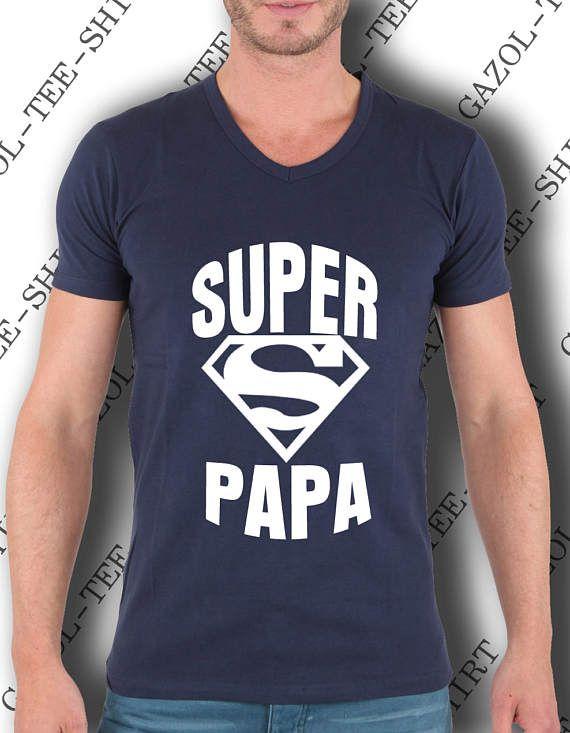 Tee-shirt SUPER PAPA. Col V. C'est bon de pouvoir compter par Gazol