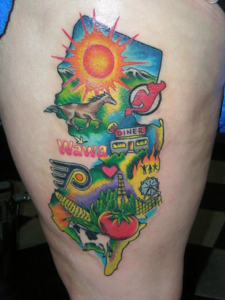 How great is this all things we love about New Jersey tattoo by the talented Brendan?!