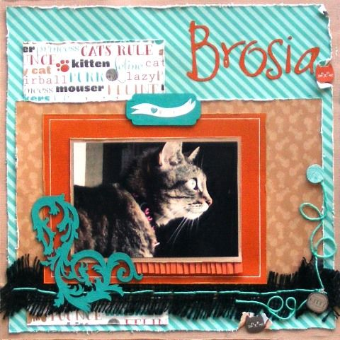 Pet page created with American Crafts paper by Barb for My Scrappin' Shop.