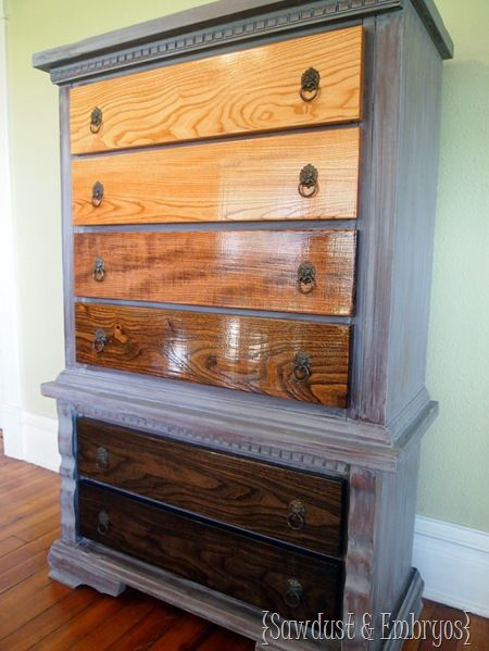 Ombre Stained Dresser  Gray Wash. Best 25  Stained dresser ideas on Pinterest   Wood stain