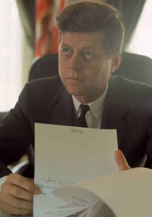 John F. Kennedy. Wasn't alive to know him, but I love his legacy