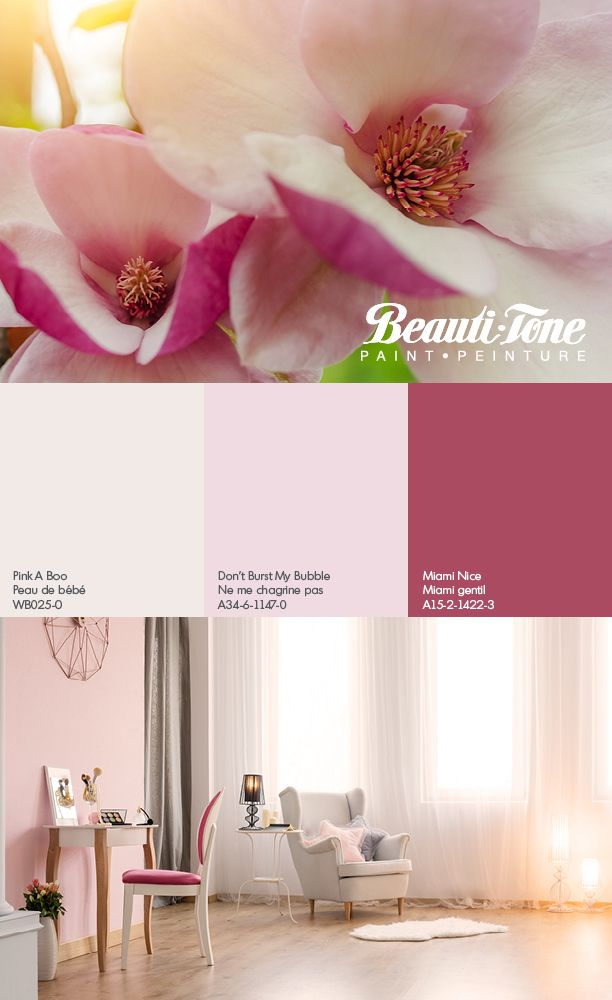Delicate Shades Of Pink Accented With A Gorgeous Fuchsia