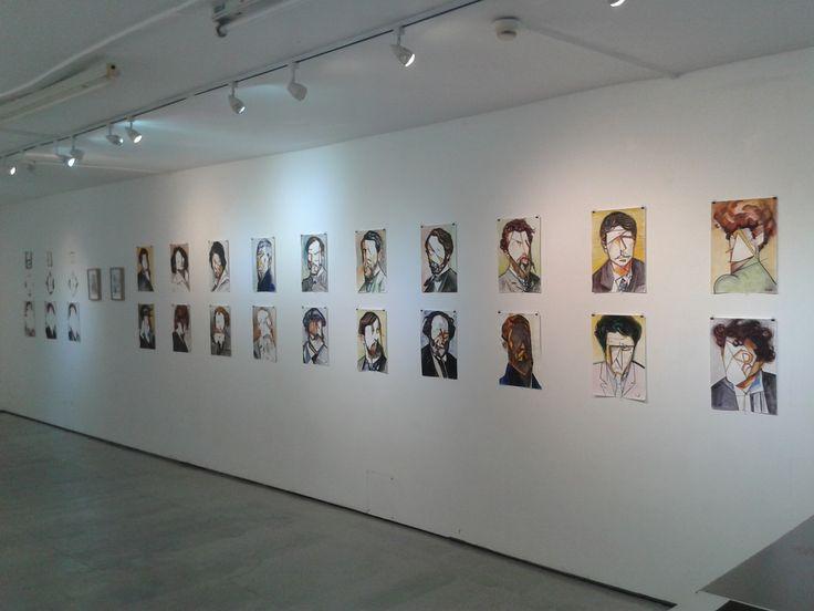 Three group art exhibition @5thBaseGallery, London. Aleksandar Bašić, Luke Branca, Lisa Sharma April 2017