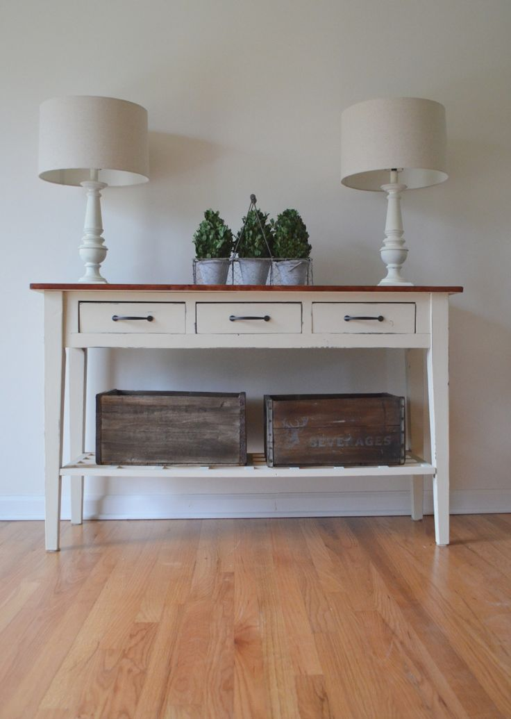 Refinished Sofa Table Done With Annie Sloan Old Ochre