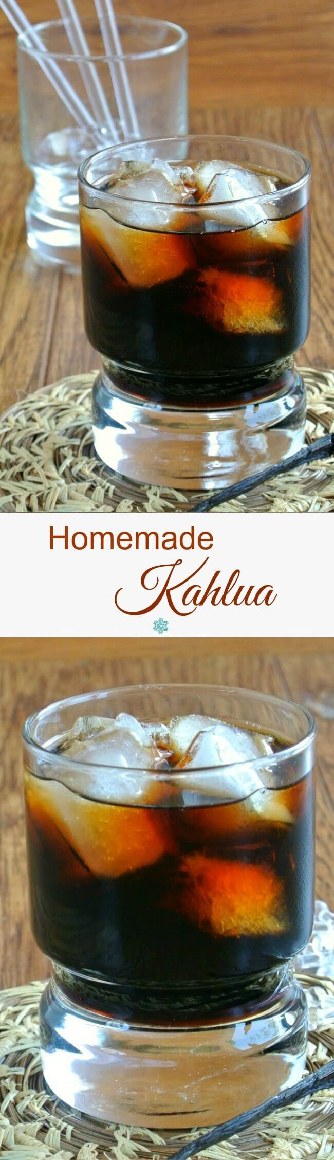 Homemade Kahlua has a perfect balance of sweetness that is shared with coffee and rum. Only 4 ingredients and doesn't it sound good? Aged for 2 to 3 weeks.