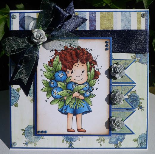 6 x 6 card made using Crafty Sentiments Designs stamp 'Fantastic Floral'