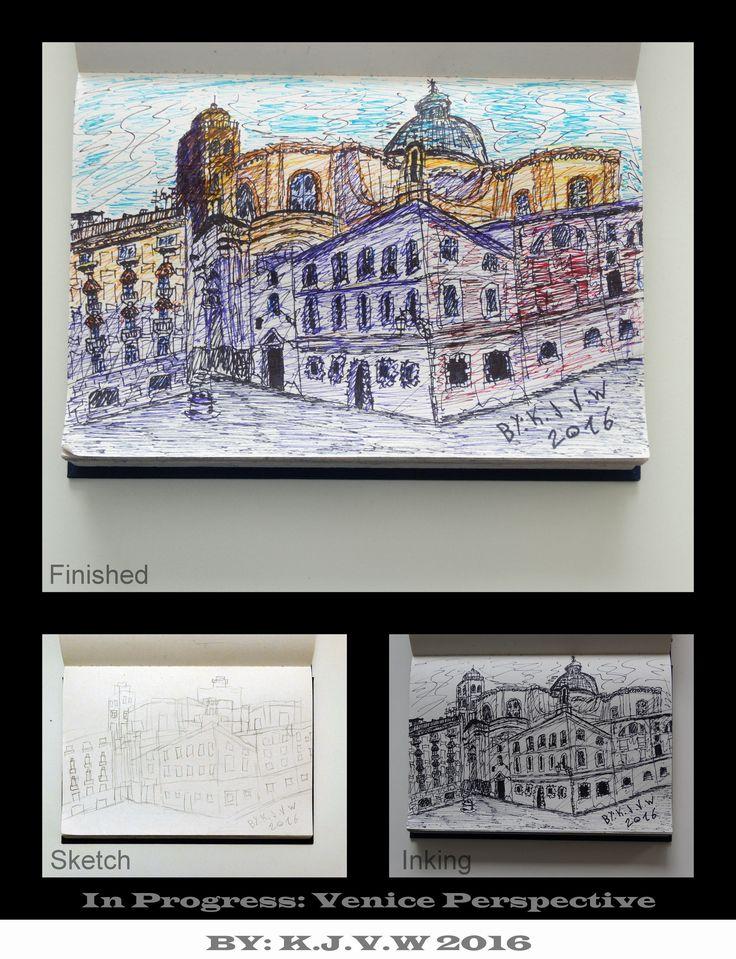 https://flic.kr/p/Gy2x1f | In Progress: 16 | Venice Perspective  1-Sketch www.flickr.com/photos/116827835@N07/25270024394/in/datepo... 2-Inking www.flickr.com/photos/116827835@N07/26105707413/in/datepo... 3-Finished www.flickr.com/photos/116827835@N07/26437021810/in/datepo...
