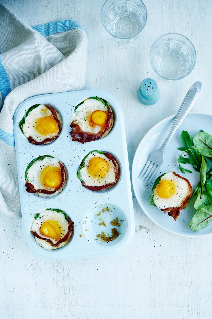 Egg, bacon and spinach cups | Egg Recipes