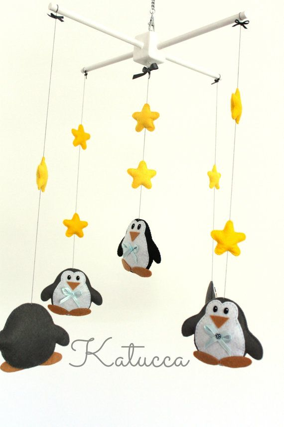 Hi! Welcome to Katucca!  THE LISTING IS FOR ONE BABY MOBILE. PLEASE READ DESCRIPTION BEFORE PURCHASE !  Let those friendly Penguins be part of your Baby