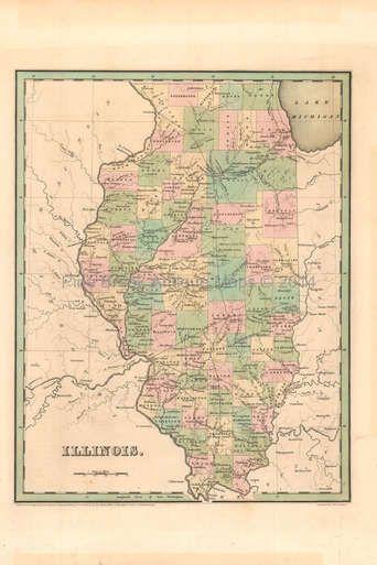 Illinois Antique Map Bradford 1842 | Illinois Antique Maps ...