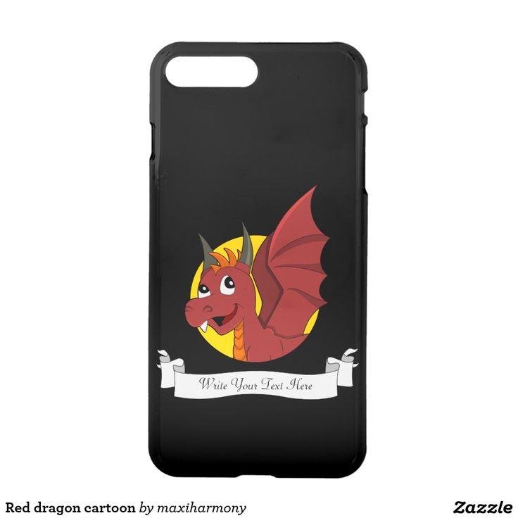 Red dragon cartoon iPhone 7 plus case