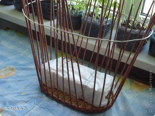 Поделка изделие Плетение И так продолжаем тему плетения обычной корзинки Трубочки бумажные фото 1