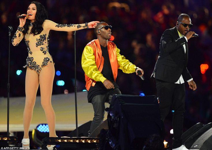 OLYMPIC'S 2012  Trio: Jessie J, Tinie Tempah and Taio Cruz perform during the closing ceremony