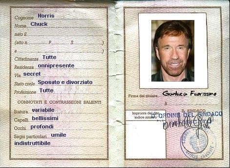carta identità Chuck Norris -> Carta identità, passaporto o patente di guida: ecco quali documenti puoi presentare al momento del check-in in una struttura ricettiva