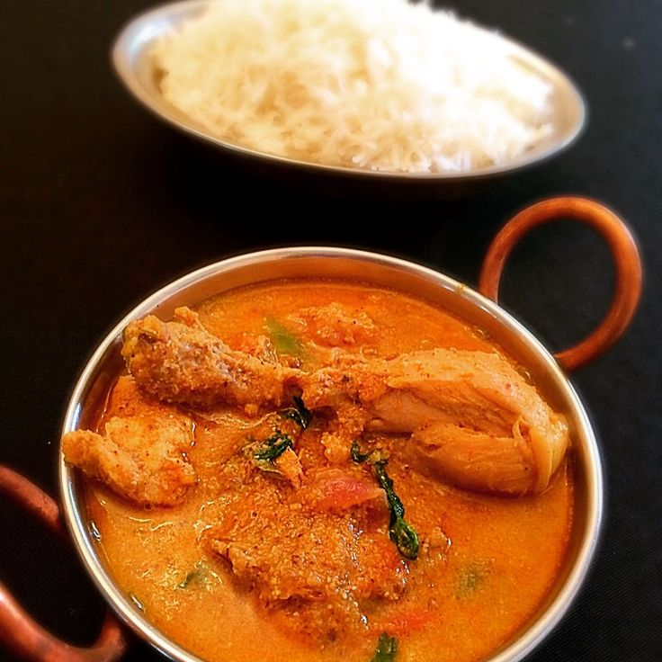 Chicken Masala is a famous South Indian Cuisine known for its authentic spicy flavour and rich creamy coconut texture. Goes well with rice or paratha.
