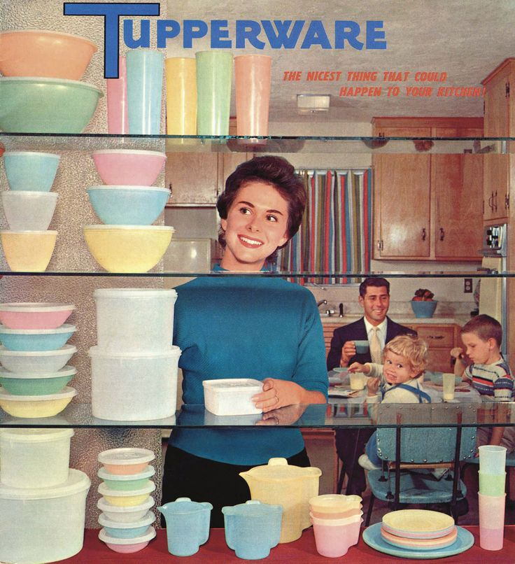 The 1950s, the nuclear family, and Tupperware