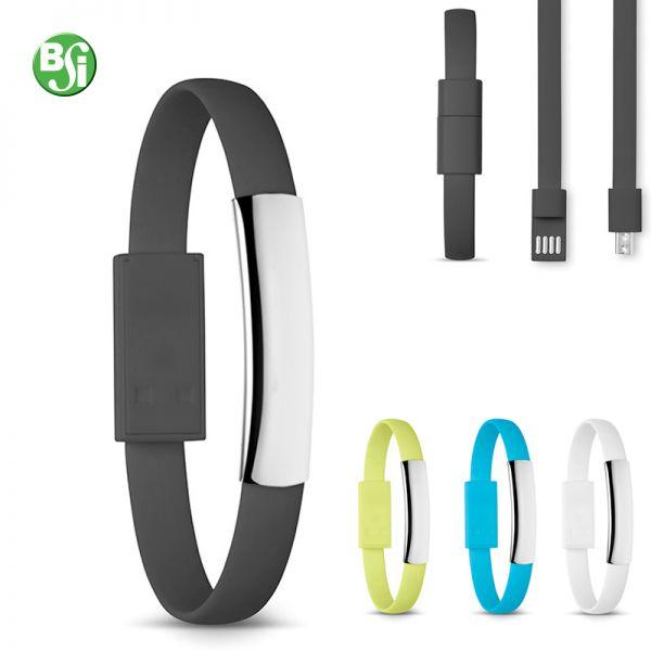Bracciale con cavetto USB, per smartphones e tablets. Senza memoria.  #bracciale #usb #gadgetpersonalizzati #technology #gadget