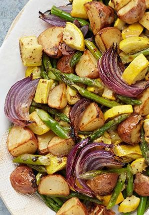 Looking for a delicious side to serve with your Easter dinner? This Oven-Roasted Dijon Vegetables side dish will pair perfectly with nearly any meal especially with GREY POUPON Dijon Mustard in the ingredients list, you can't go wrong!