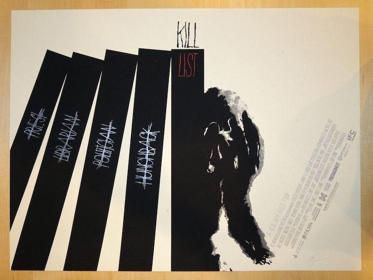 "2012 ""Kill List"" - Silkscreen Movie Poster by Jay Shaw"