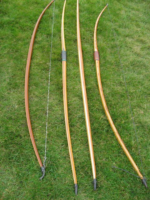 English longbows - Used by Border Reivers.