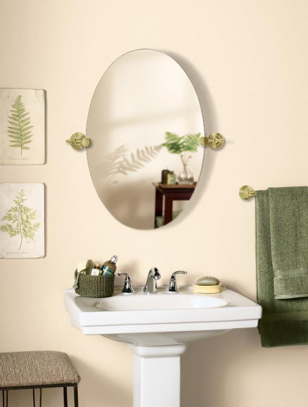 Lovely Brass Swivel Oval Mirror X