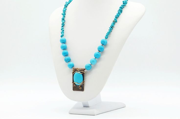 Turquoise Jewellery – turquoise pendant with necklace – a unique product by tizianat on DaWanda