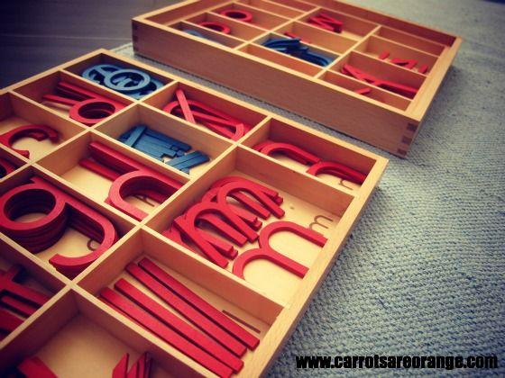 Moveable Montessori Alphabet