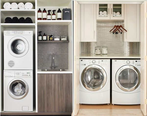 laundry nook compact | How To Create Laundry Nook | Furnish Burnish