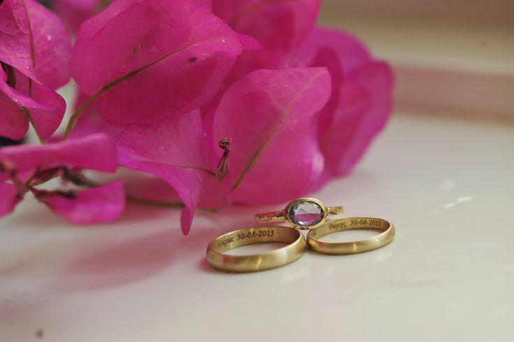 MINT WEDDING INSPIRATION, wedding ring, pink flower, prigipo, syros | lafete