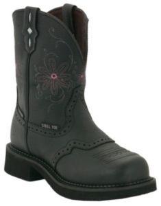 Justin Original Work Boots® Gypsy™ Ladies Black Saddle Vamp WP Steel Toe Work Boots | Cavender's