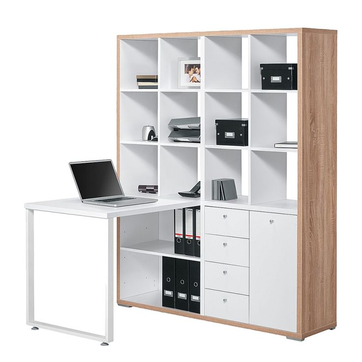 Mini-Office Lela - Eiche Sonoma Dekor/Weiß