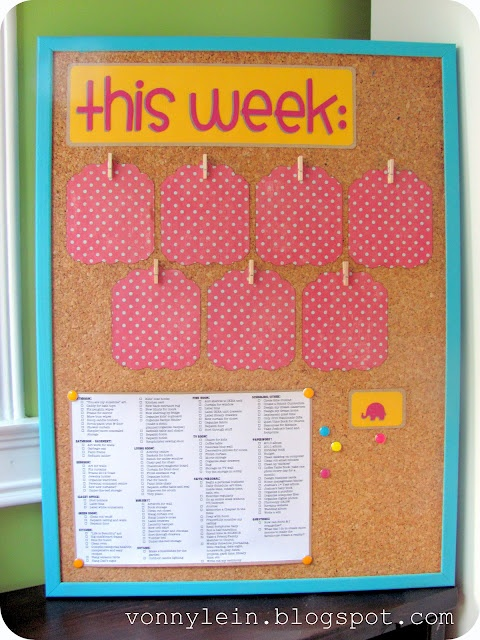 My Weekly Visual Organizer Is DONE!