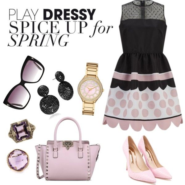 A fashion look from September 2015 featuring RED Valentino dresses, Sophia Webster pumps and Valentino handbags. Browse and shop related looks.