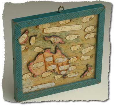 Braille map of Australia